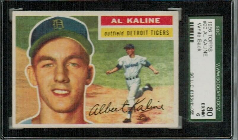 1956 Topps #20 Al Kaline SGC 6