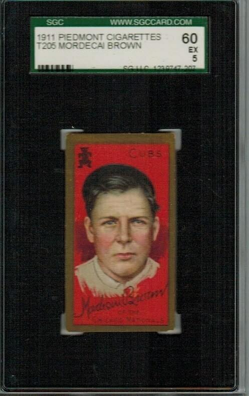 1911 T205 Mordecai Brown SGC 5