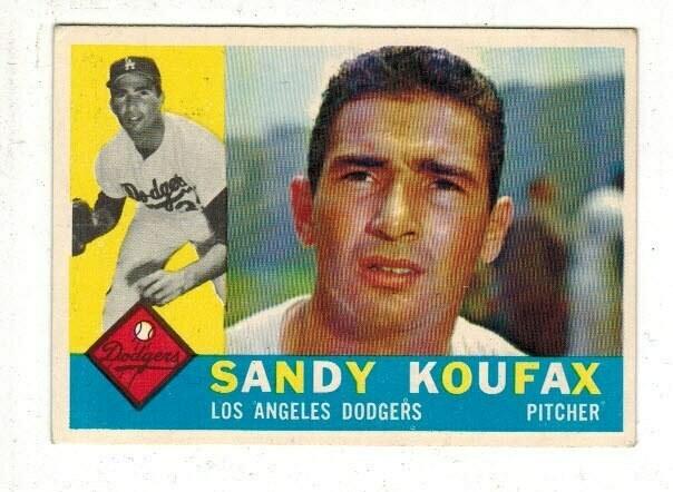 1960 Topps #343 Sandy Koufax list $150