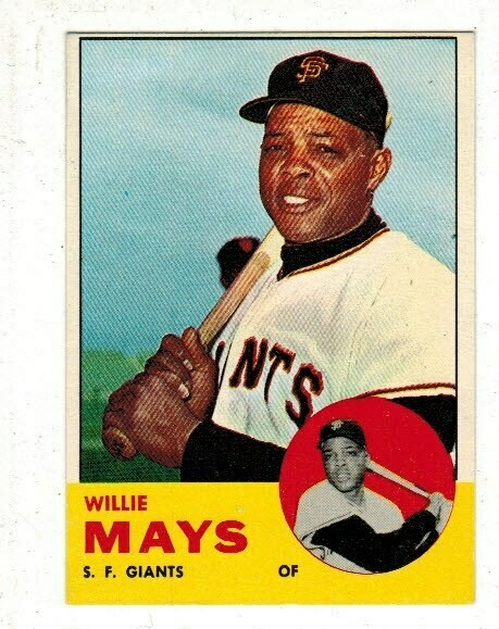 1963 Topps #300 Willie Mays list $200