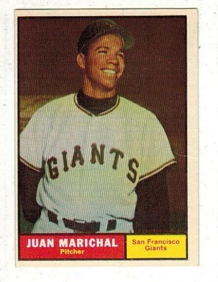 1961 Topps #417 Juan Marichal rookie list $250