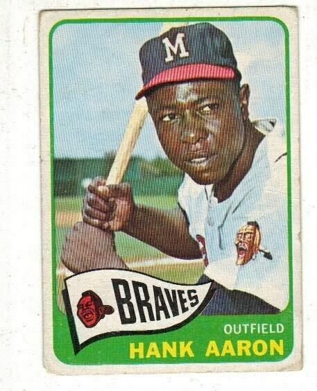 1965 Topps #170 Hank Aaron list $200