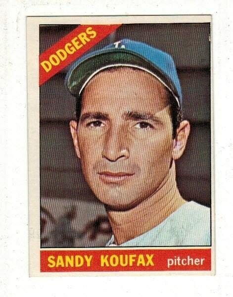 1966 Topps #100 Sandy Koufax list $100