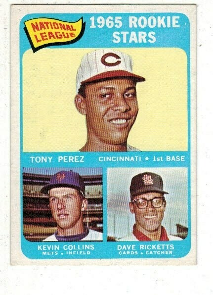1965 Topps #581 Tony Perez rookie SP list $120