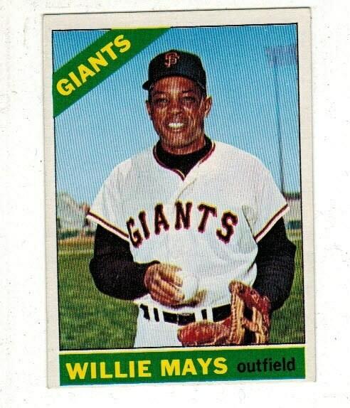 1966 Topps #1 Willie Mays list $250