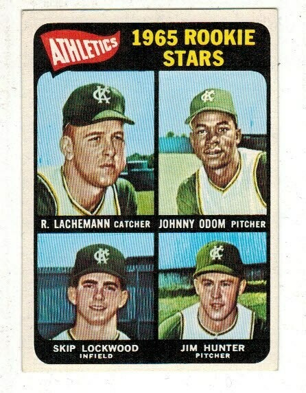 1965 Topps #526 Jim Hunter rookie SP