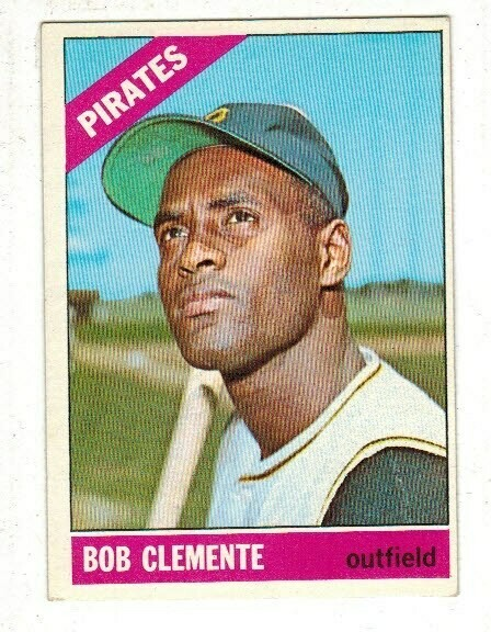 1966 Topps #300 Roberto Clemente list $200