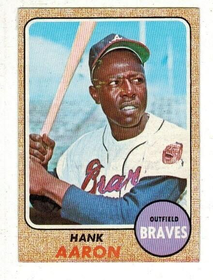 1968 Topps #110 Hank Aaron list $100