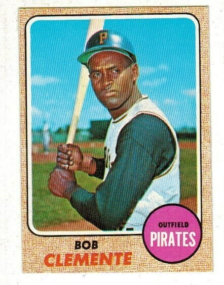 1968 Topps #150 Roberto Clemente list $100