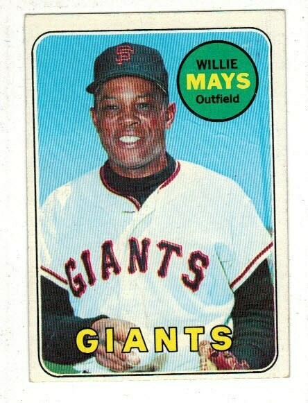 1969 Topps #190 Willie Mays list $100