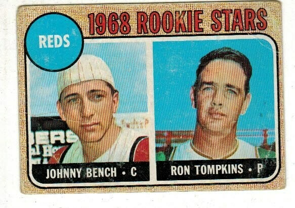 1968 Topps #247 Johnny Bench rookie list $250