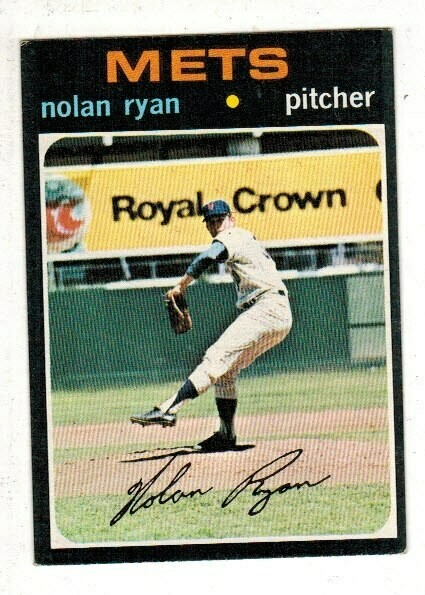 1971 Topps #513 Nolan Ryan list $150