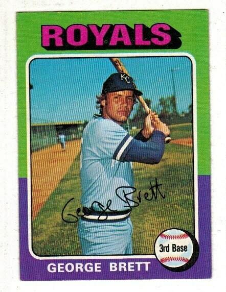 1975 Topps #228 George Brett rookie list $150