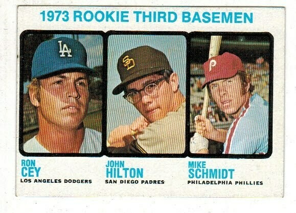 1973 Topps #615 Mike Schmidt rookie list $300