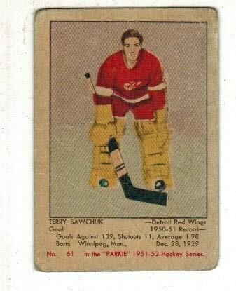 1951/52 Parkhurst Terry Sawchuk rookie VG- list $1200