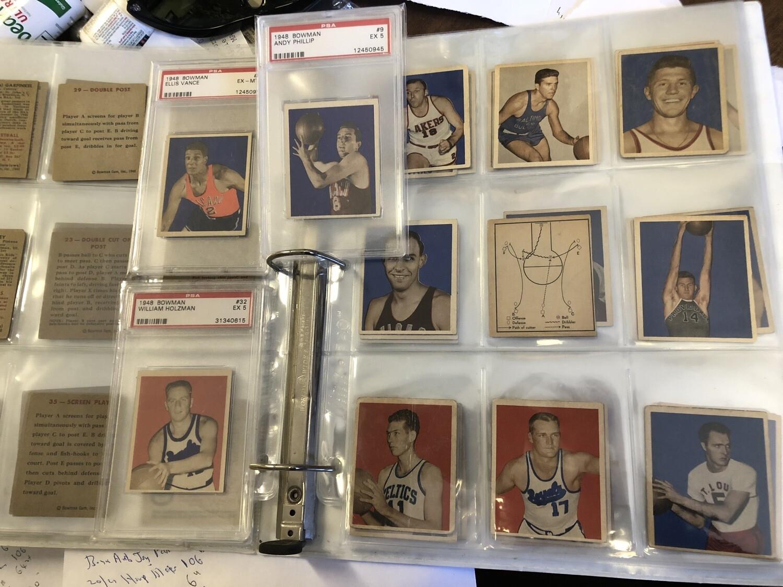 1948 Bowman Basketball set VG to Ex/Mint -1 card
