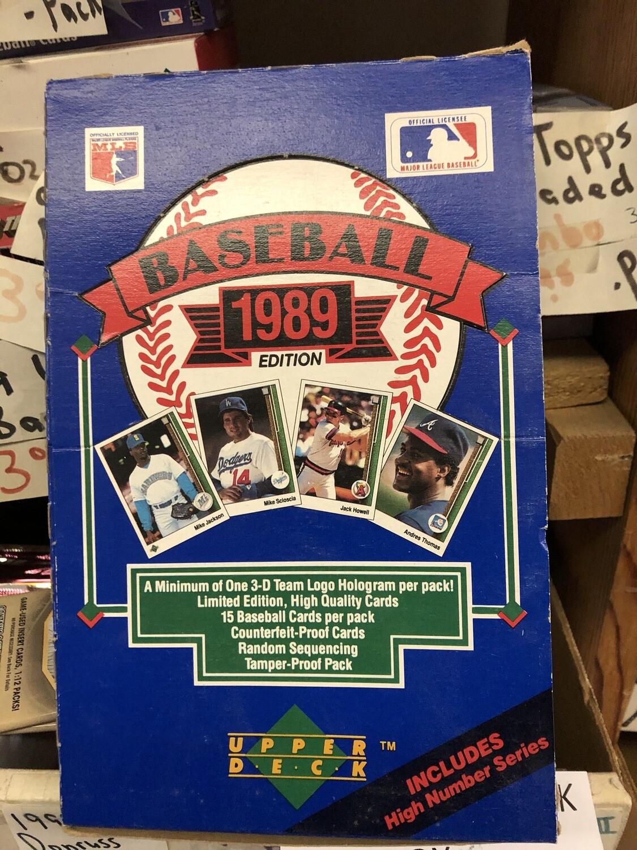 1989 Upper Deck 36 Pack Pack box Griffey rookie