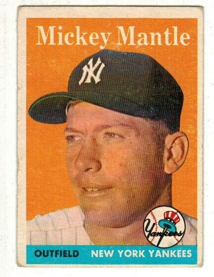 1958 Topps 150 Mickey Mantle