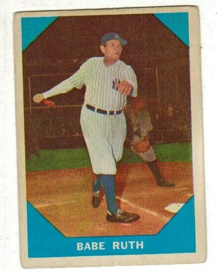 1960 Fleer #3 Babe Ruth, List $150,