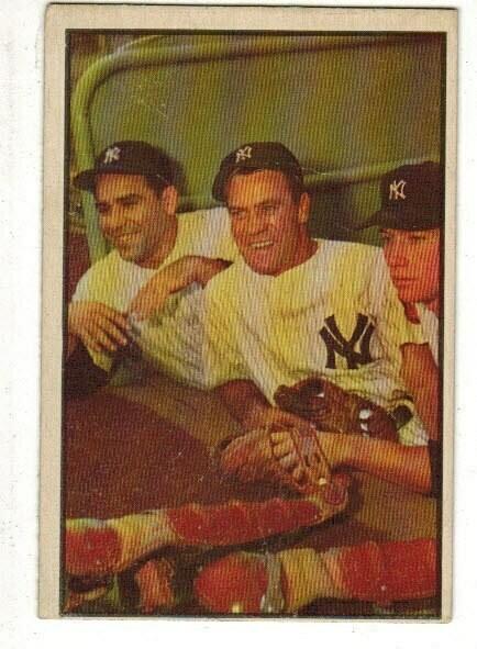 1953 Bowman #44 Mickey Mantle Berra Bauer list $600