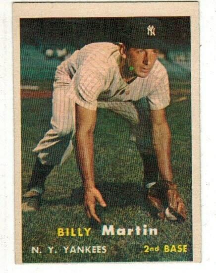 1957 Topps #62 Billy Martin list $60