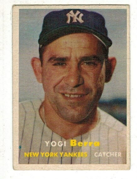 1957 Topps #2 Yogi Berra list $150
