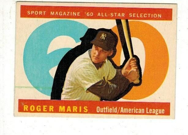 1960 Topps #565 Roger Maris All Star list $100