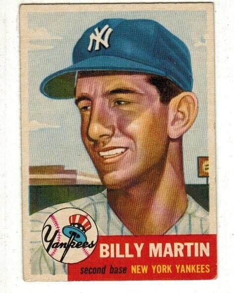 1953 Topps #86 Billy Martin list $200
