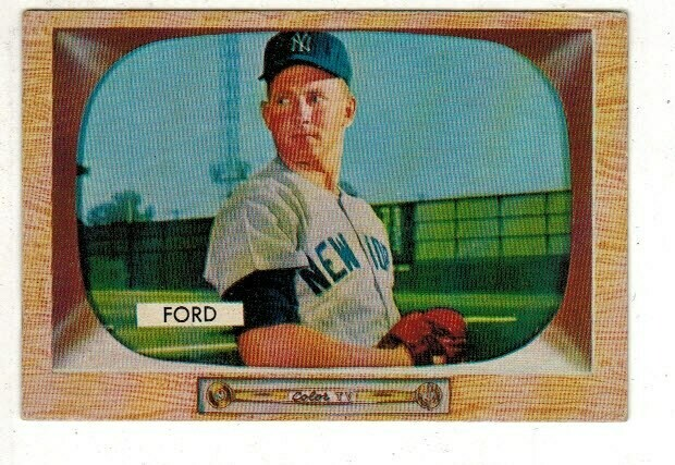 1955 Bowman #59 Whitey Ford list $100