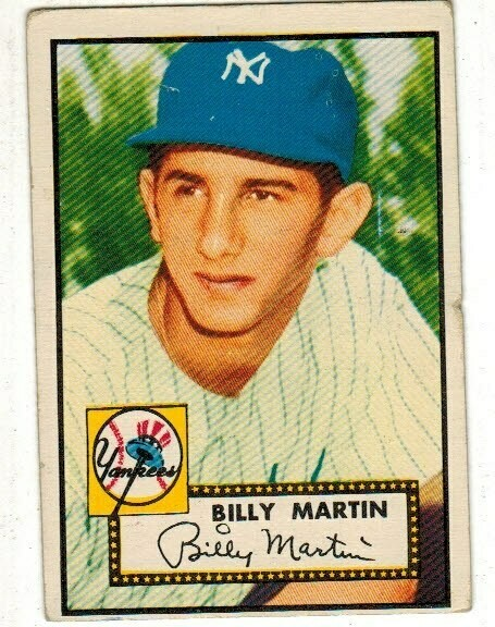 1952 Topps #175 Billy Martin rookie list $500