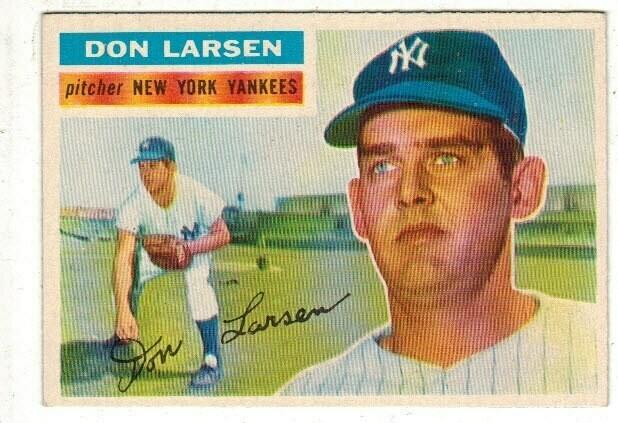 1956 Topps #332 Don Larsen rookie