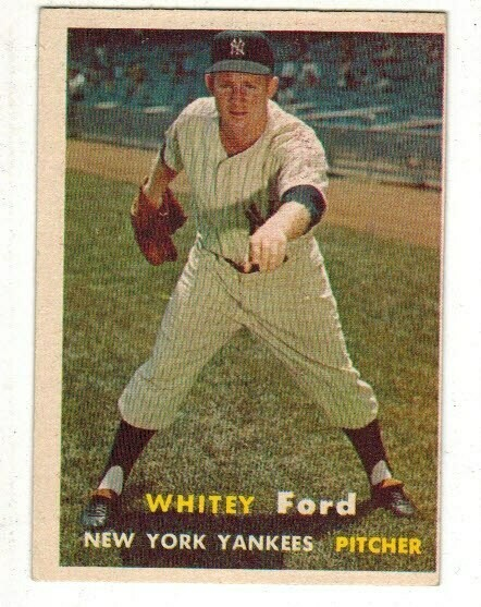 1957 Topps #25 Whitey Ford list $150