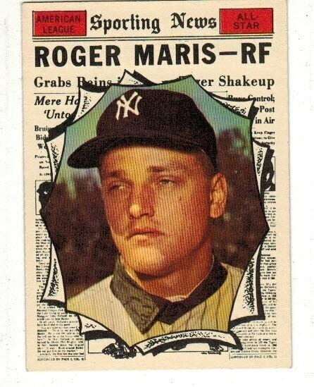 1961 Topps #576 Roger Maris All Star