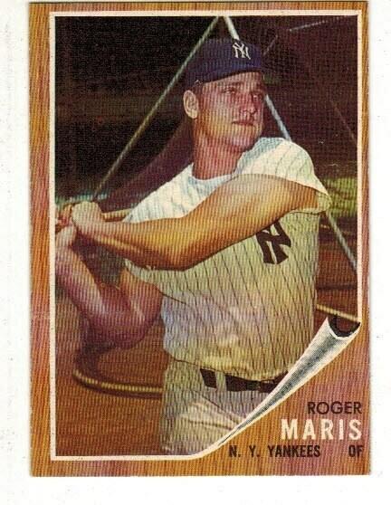 1962 Topps #1 Roger Maris list $250