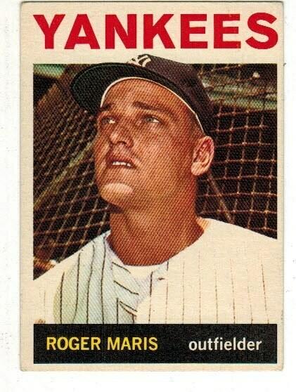 1964 Topps #225 Roger Maris list $80