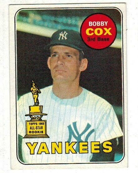 1969 Topps #237 Bobby Cox rookie