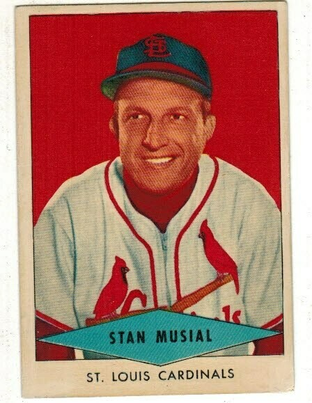 1954 Red Heart Stan Musial list $600