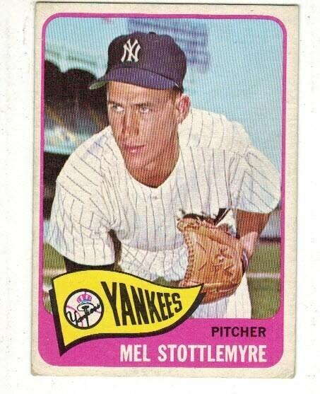 1965 Topps #550 Mel Stottlemyre rookie list $50