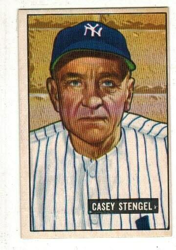 1951 Bowman #181 Casey Stengel list $100