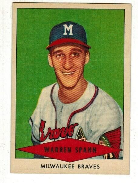 1954 Red Heart Warren Spahn