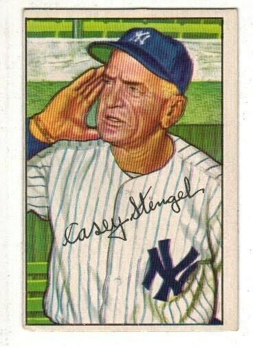 1952 Bowman #217 Casey Stengel list $120