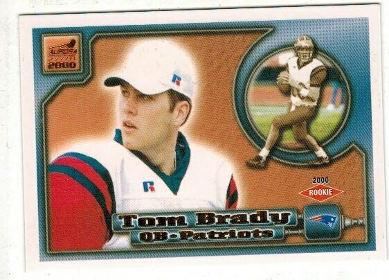 2000 Pacific Aurora Tom Brady rookie