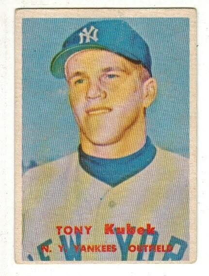 1957 Topps #312 Tony Kubek rookie list $100