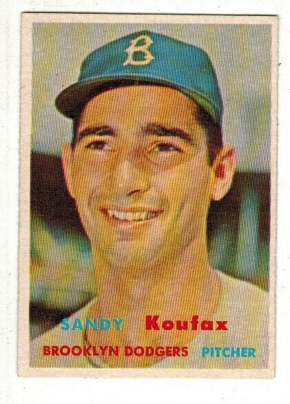 1957 Topps #302 Sandy Koufax, List $400