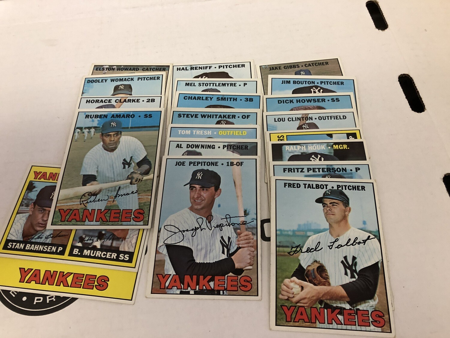 1967 Topps Yankees Team set 22 cards No Mantle or High #'s