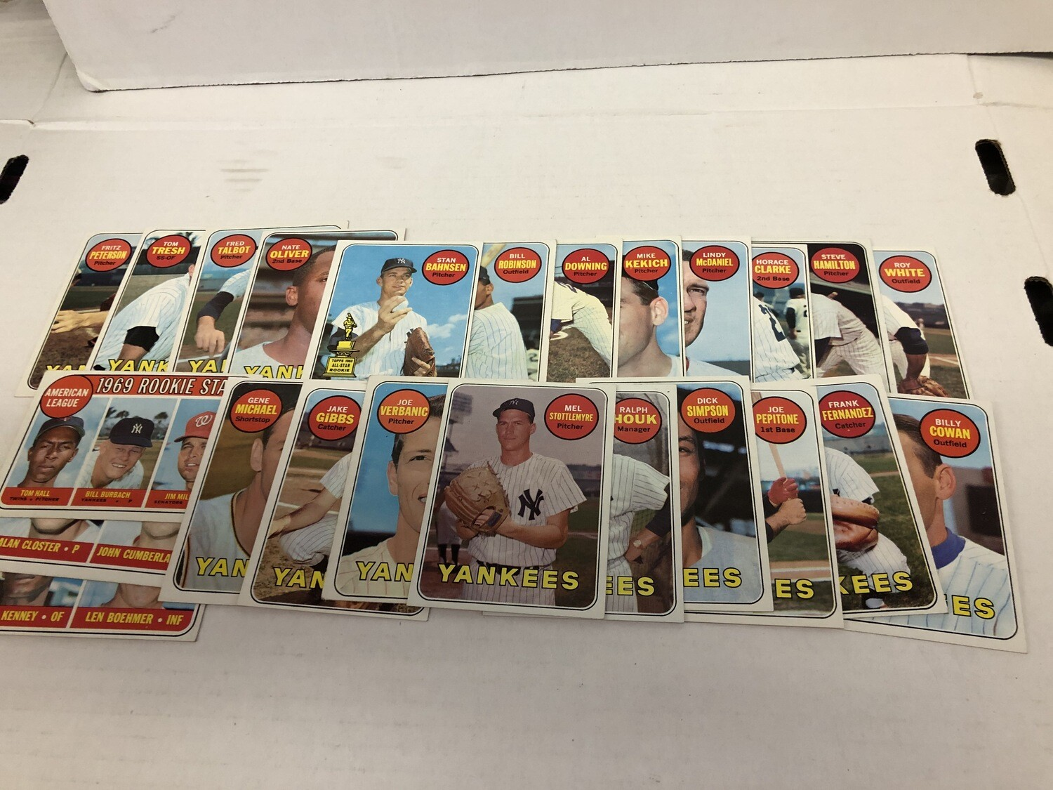 1969 Topps Yankees Team set 24 cards No Mantle, Cox,Murcer