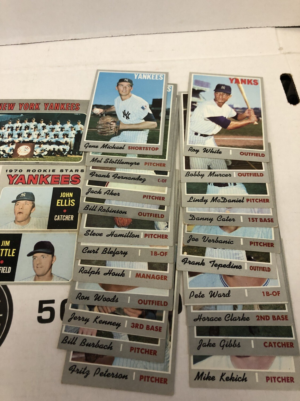 1970 Topps Yankees Team set 24 cards, No Munson