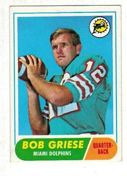 1968 Topps #196 bob Griese rookie