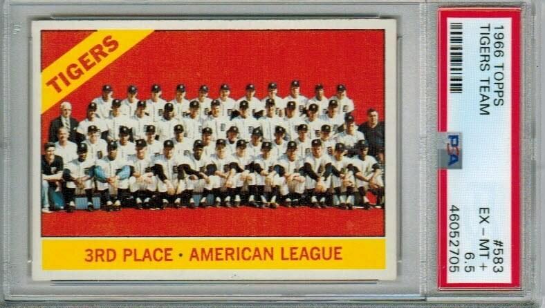 1966 Topps #583 Tigers Team PSA 6.5