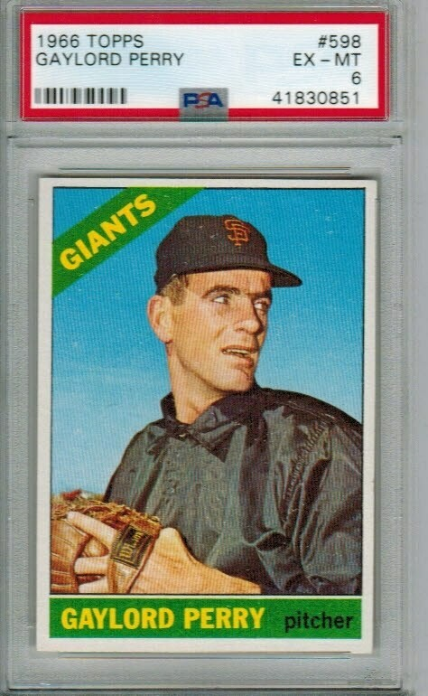 1966 Topps #598 Gaylord Perry PSA 6
